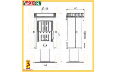 Печь-камин МЕТА ARDENFIRE® Корсика 12